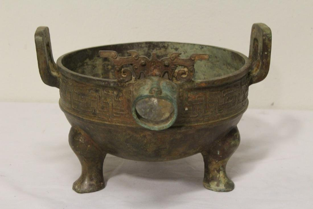 Chinese archaic style bronze tripod ding