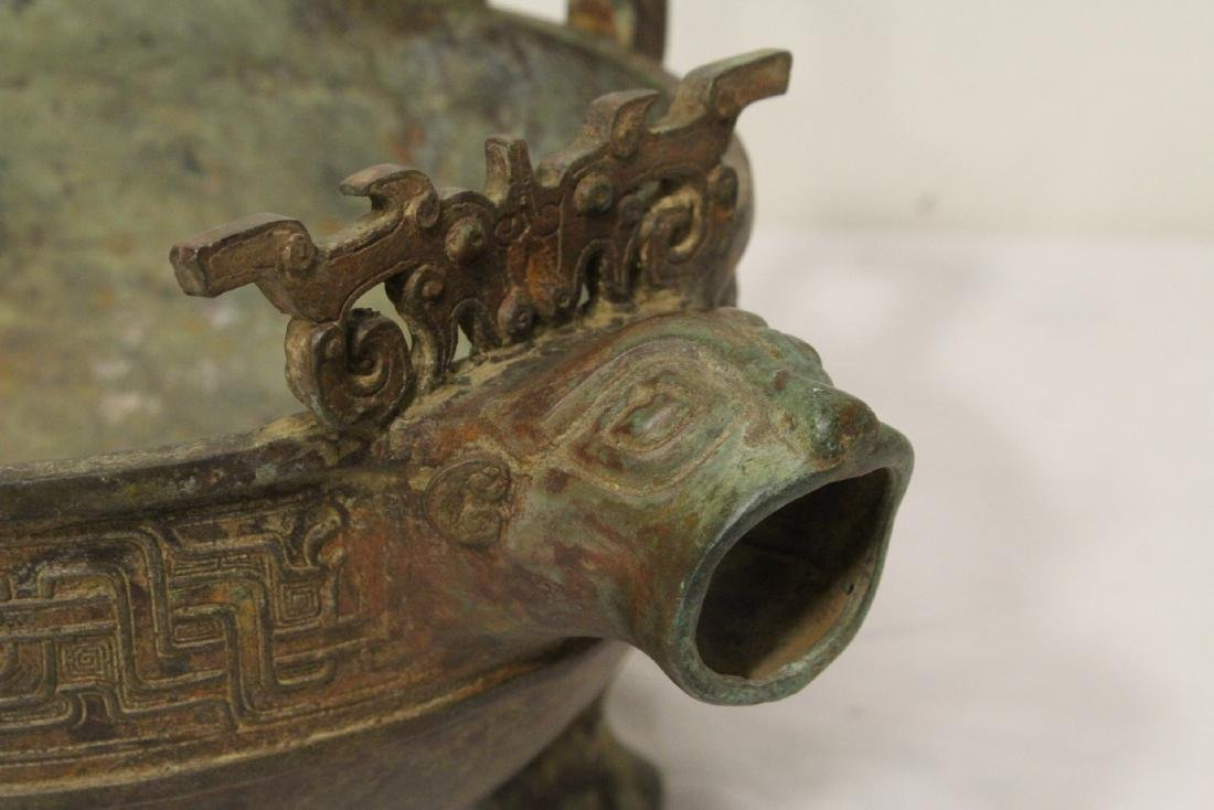 Chinese archaic style bronze tripod ding - 4