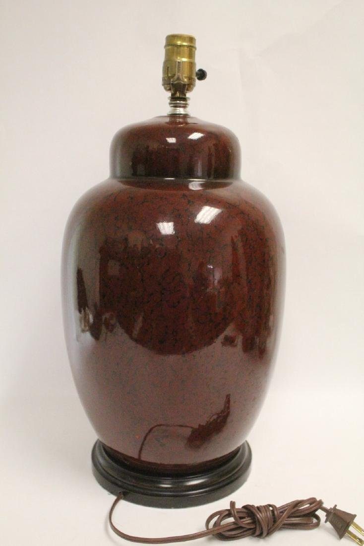 Chinese vase, & 2 Chinese vases made as lamps - 3