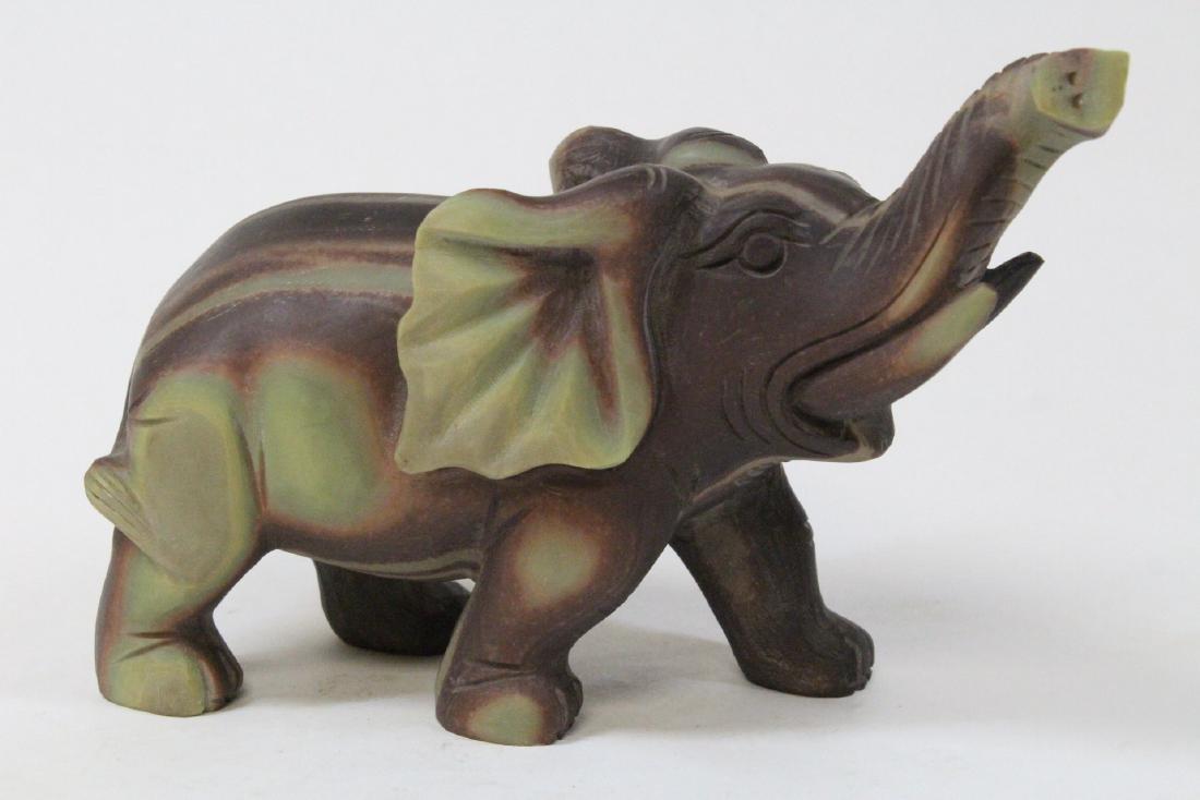 Chinese shoushan stone carved elephant