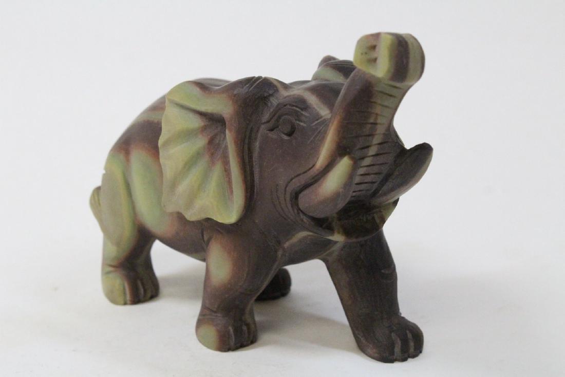 Chinese shoushan stone carved elephant - 2