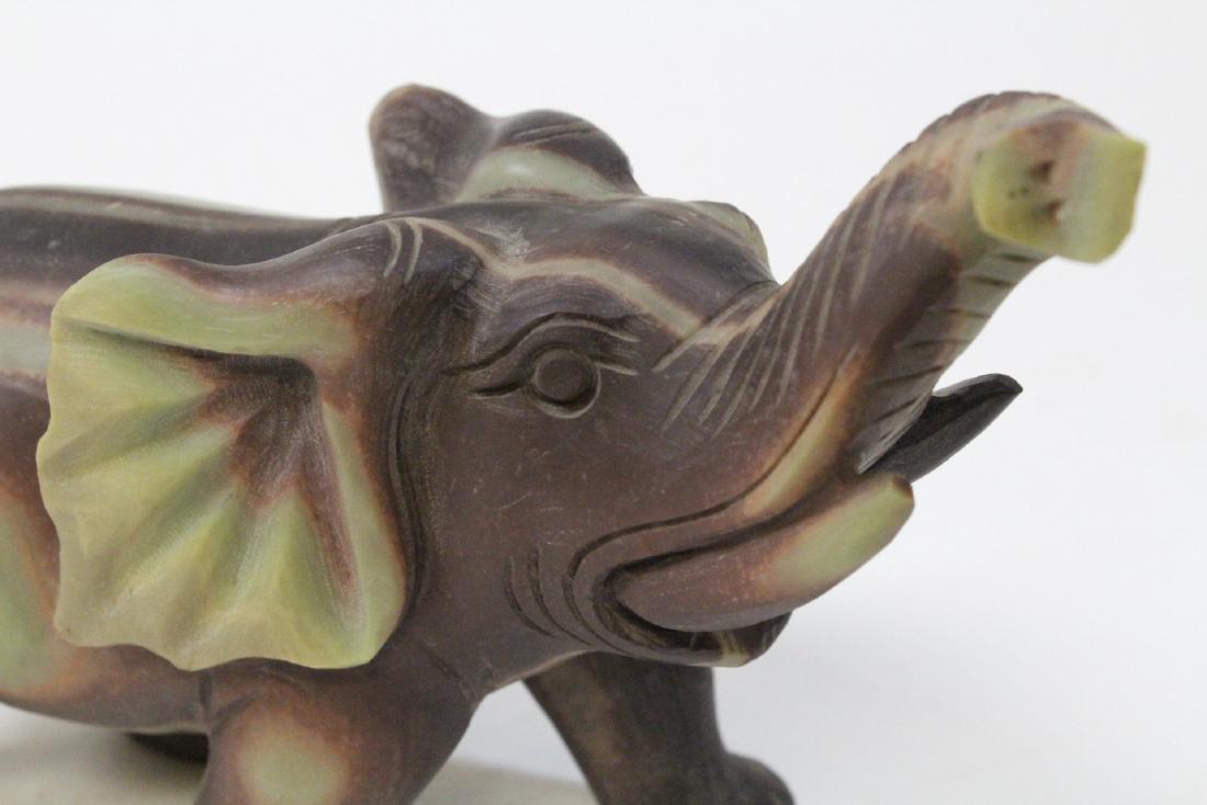Chinese shoushan stone carved elephant - 9