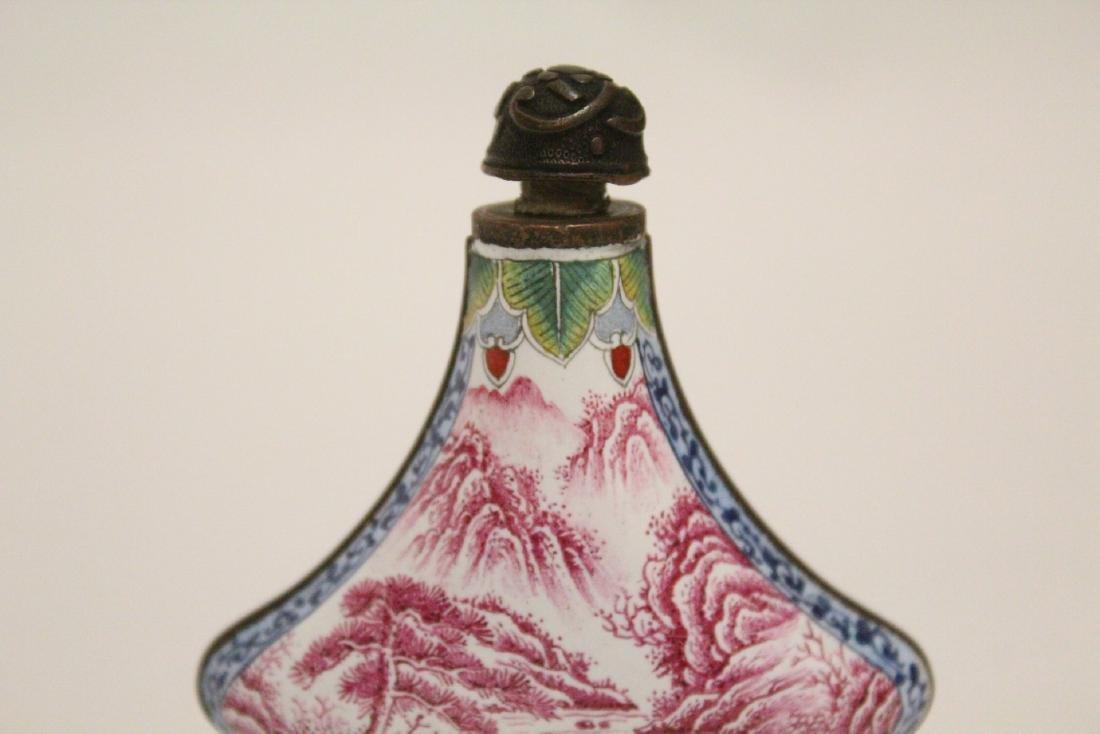 Enamel on copper snuff bottle - 7