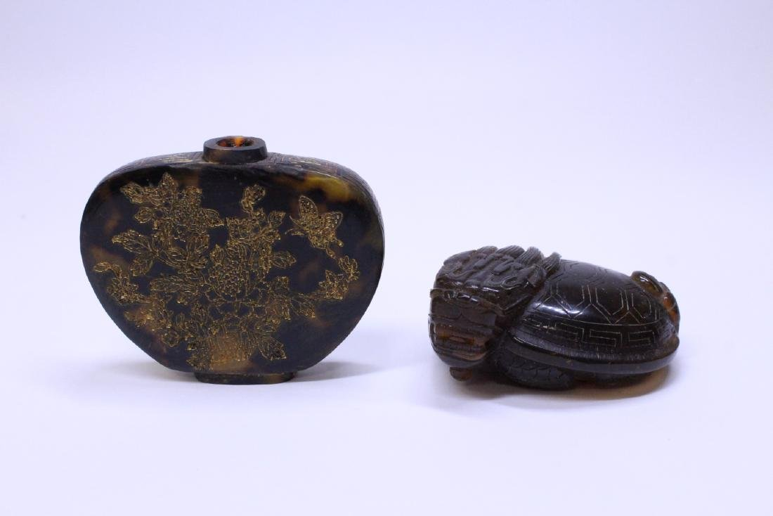 2 tortoise shell style items