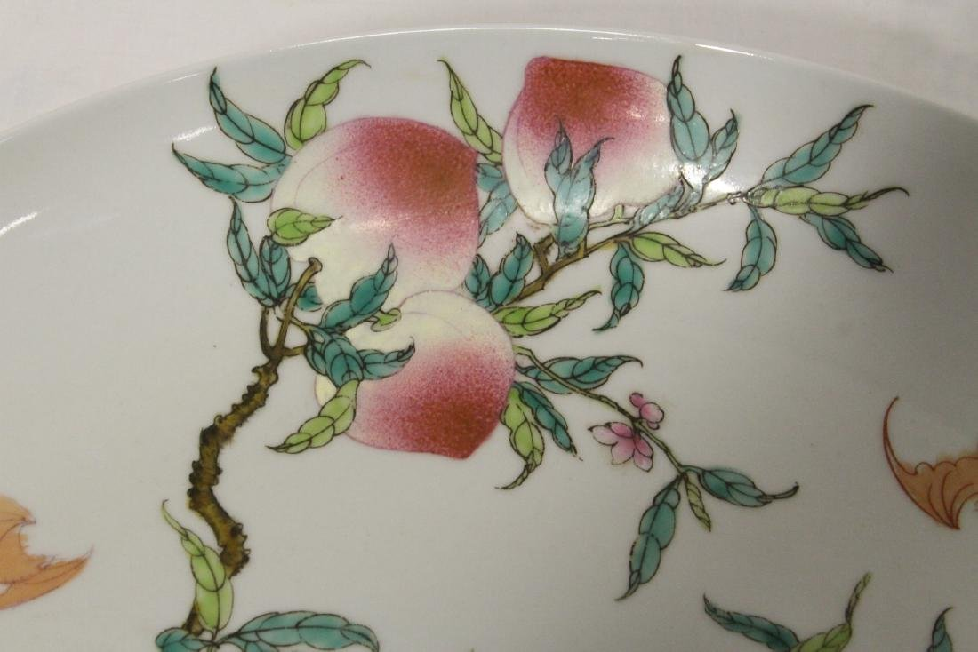 Chinese famille rose porcelain charger - 6