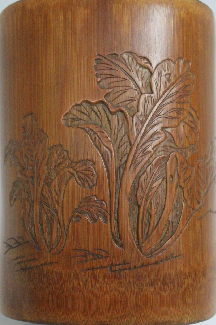 Chinese bamboo brush holder - 10