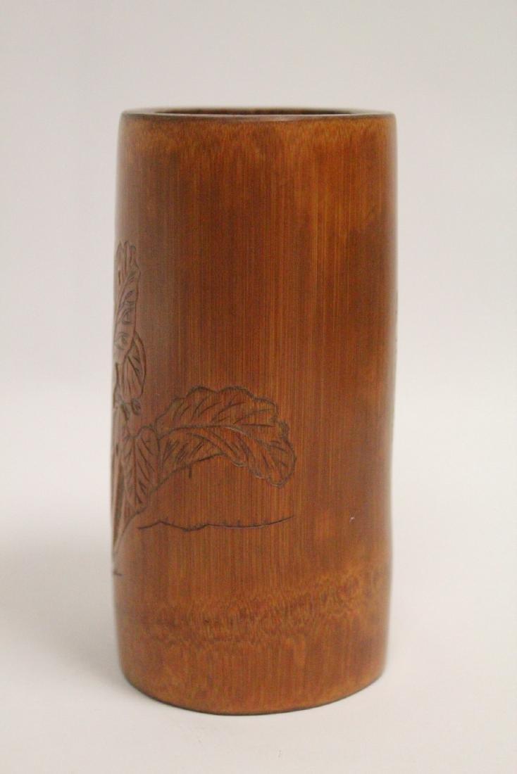 Chinese bamboo brush holder - 2
