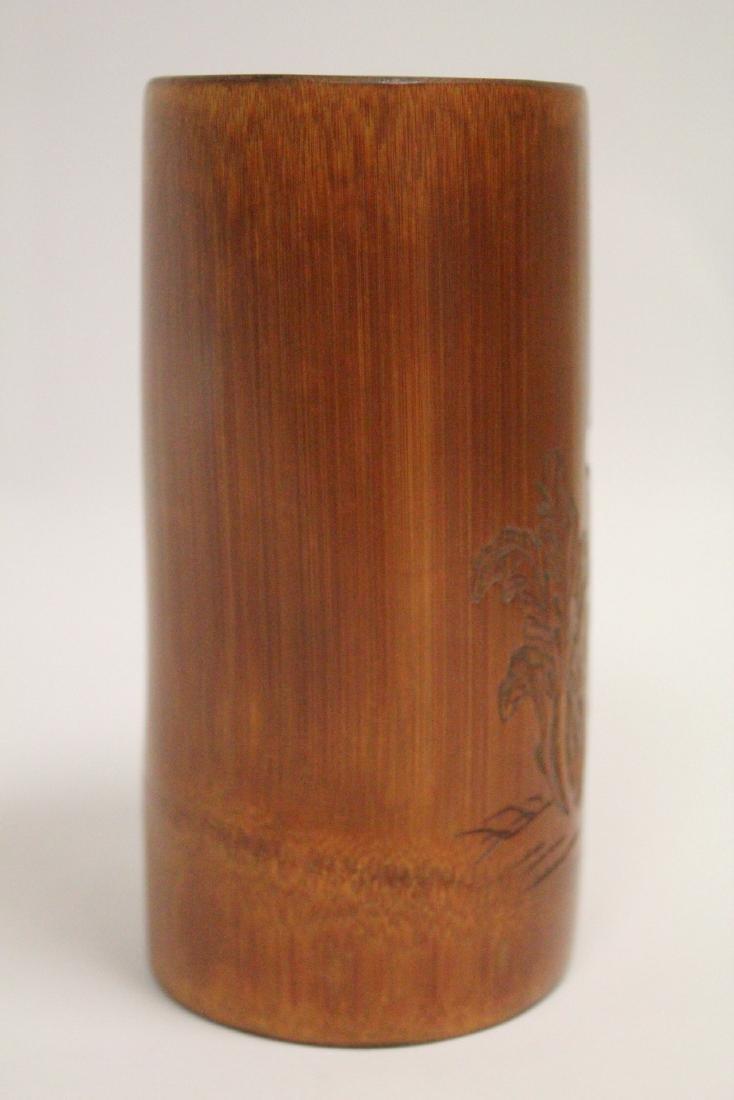 Chinese bamboo brush holder - 4