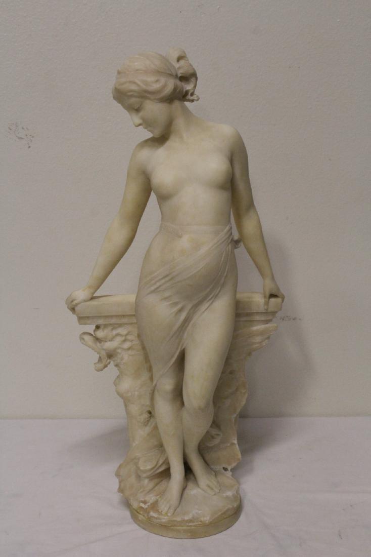 alabaster sculpture by Emilio P. Fiaschi