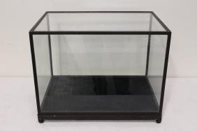 A large zitan framed table top display case