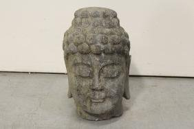 Chinese vintage stone carved Buddha head