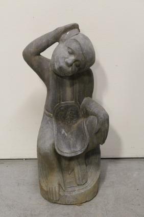 Chinese stone carved monkey