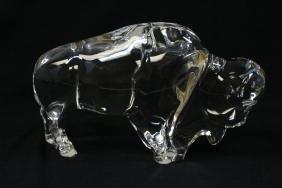 "Baccarat crystal ""buffalo"""