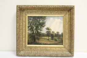 "19th century oil on canvas ""landscape"""