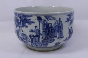 Chinese antique blue and white large bowl