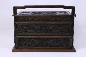 Rosewood book storage box