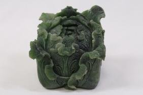 Chinese shoushan stone carved cabbage