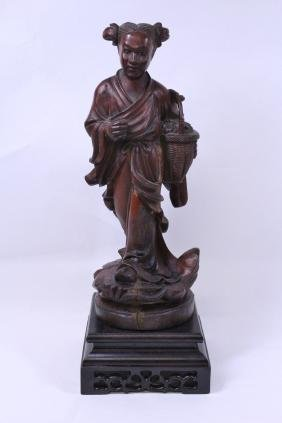 Chinese wood carved figure