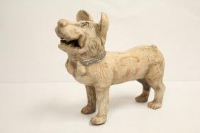 Han style pottery dog