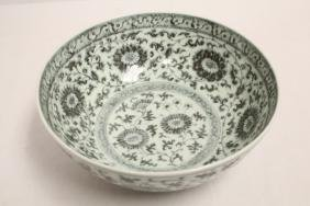 Chinese blue and white porcelain large bowl