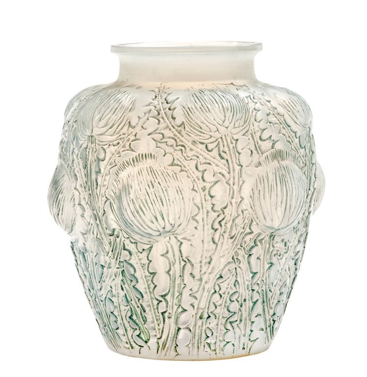 10: An opalescent glass vase, Domremy, by R. Lalique, F