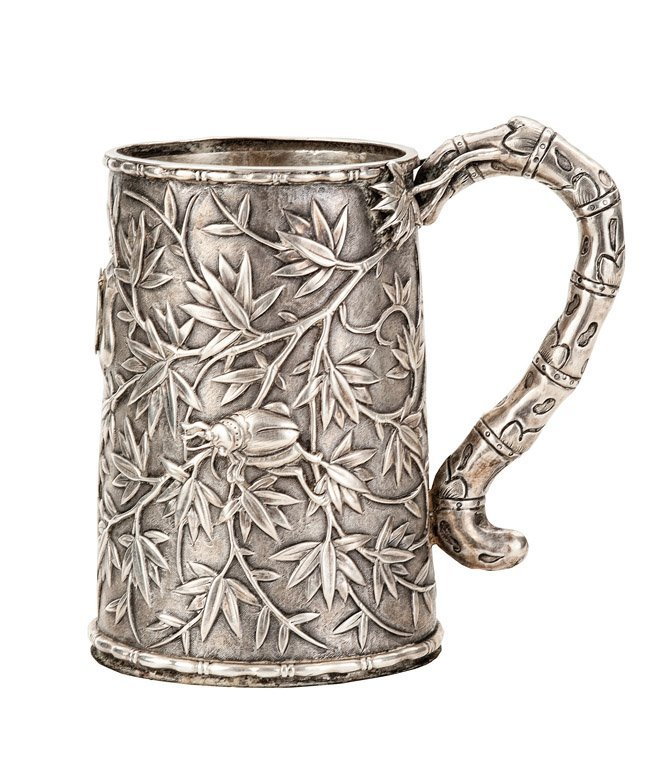 158: A Chinese export silver tankard, Qing dynasty, 19t