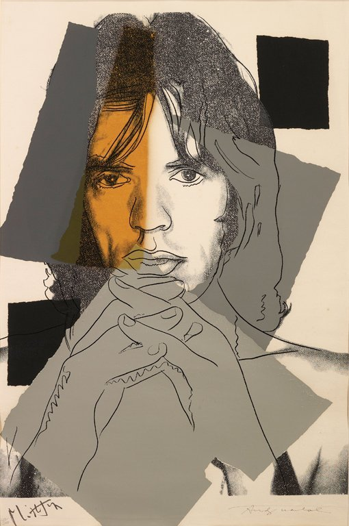 13: ANDY WARHOL Mick Jagger, 1975  one plate (F. & S. I