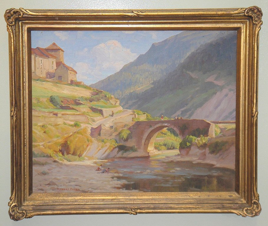 2: HERBERT C. ROSE (1890-1937) Untitled - Roman Bridge