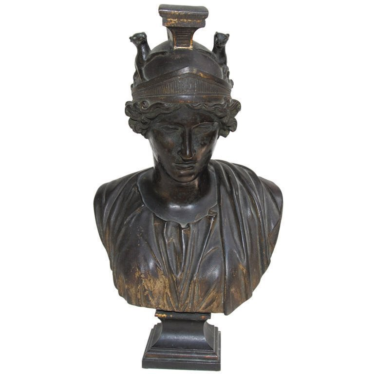 5: A 19th century Grand Tour bust of Athena 31 x 19 x 1