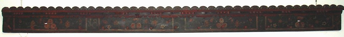 14: A painted timber coat rack fragment, Continental/Sc