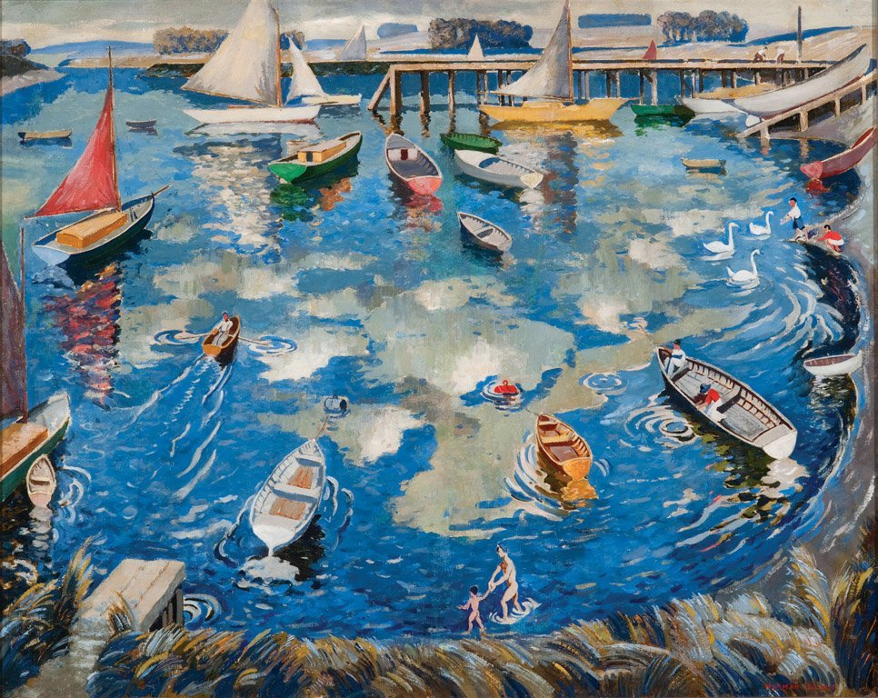 3: NORMAN LLOYD  (1894–1983)  Bathing and rowing on the