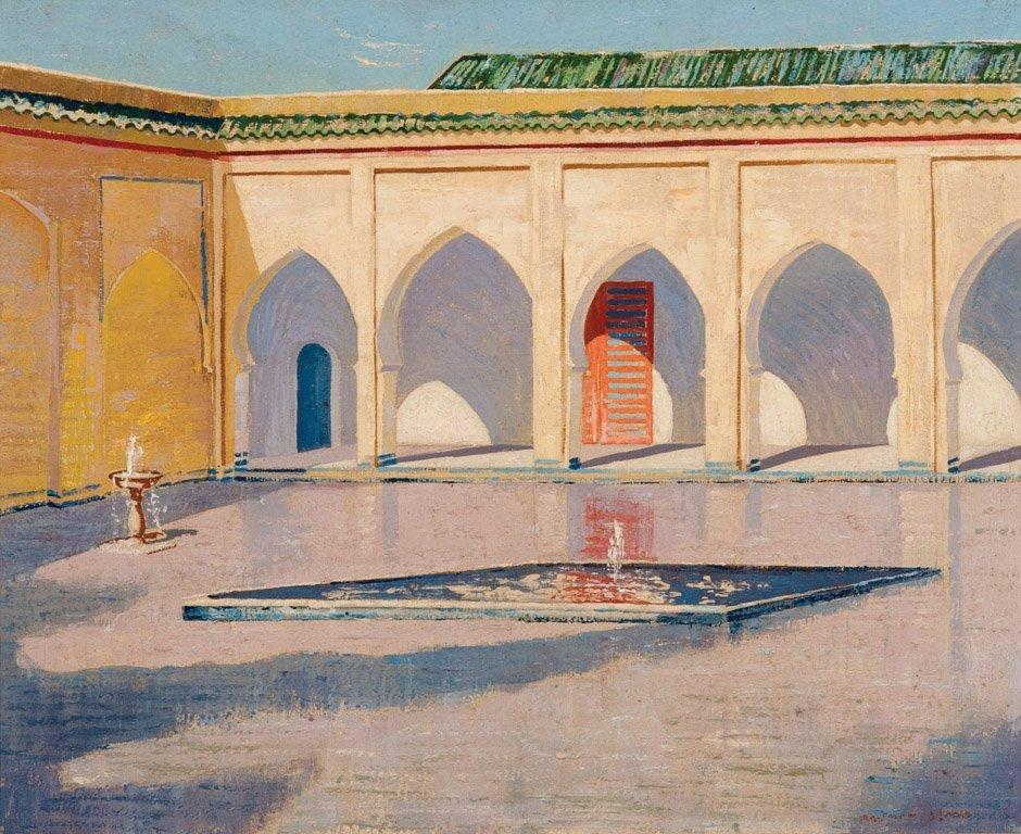 7: NORMAN LLOYD  (1894–1983)  Fountain in the square oi