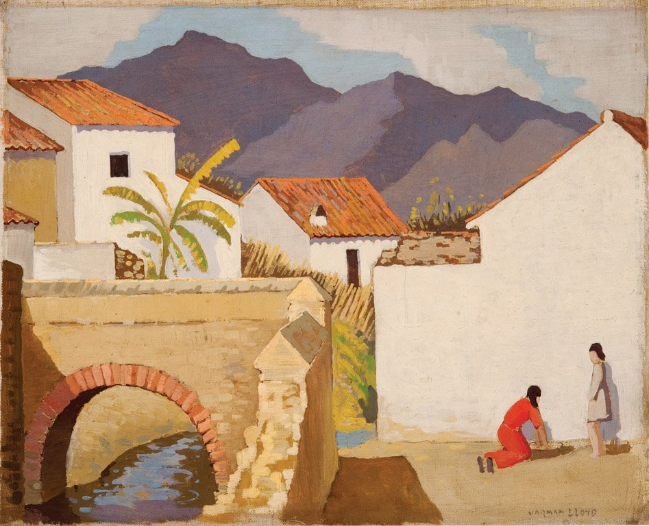 9: NORMAN LLOYD  (1894–1983)  Two figures at a white wa