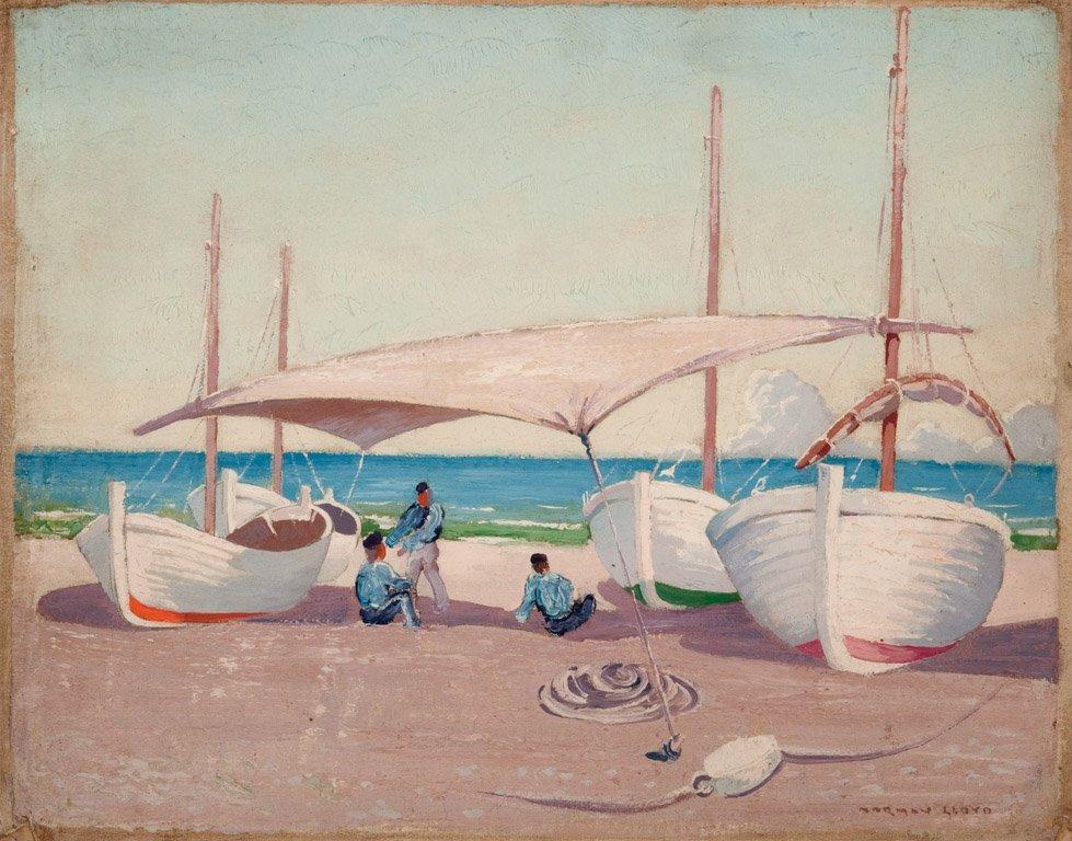13: NORMAN LLOYD  (1894–1983)  Fishermen in the shade o