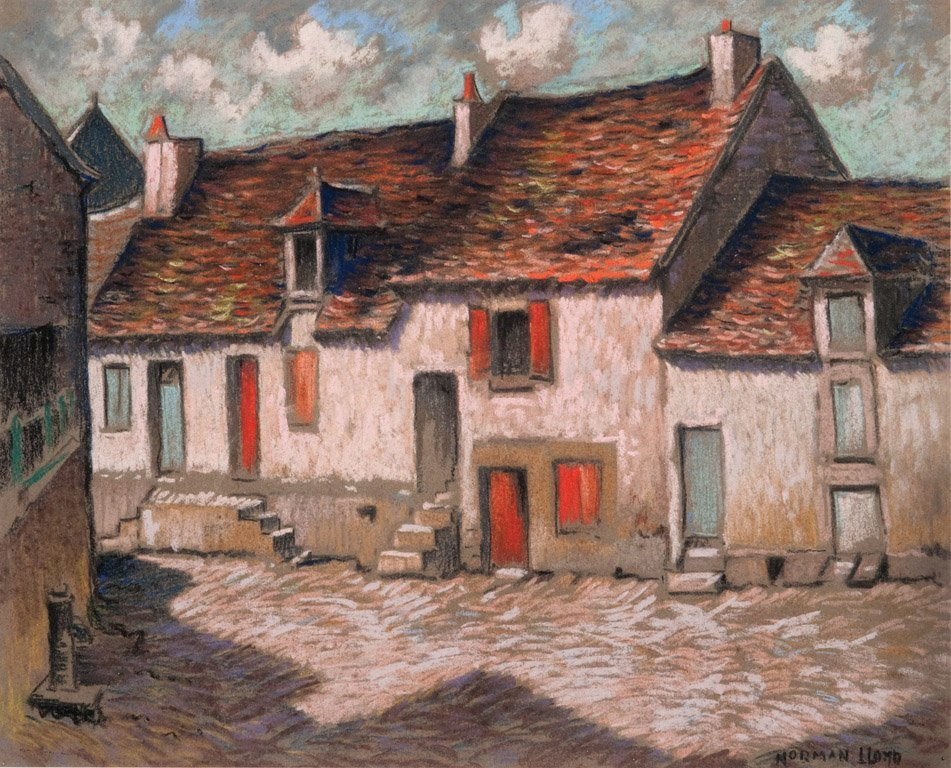 14: NORMAN LLOYD  (1894–1983)  Farmhouse and red doors