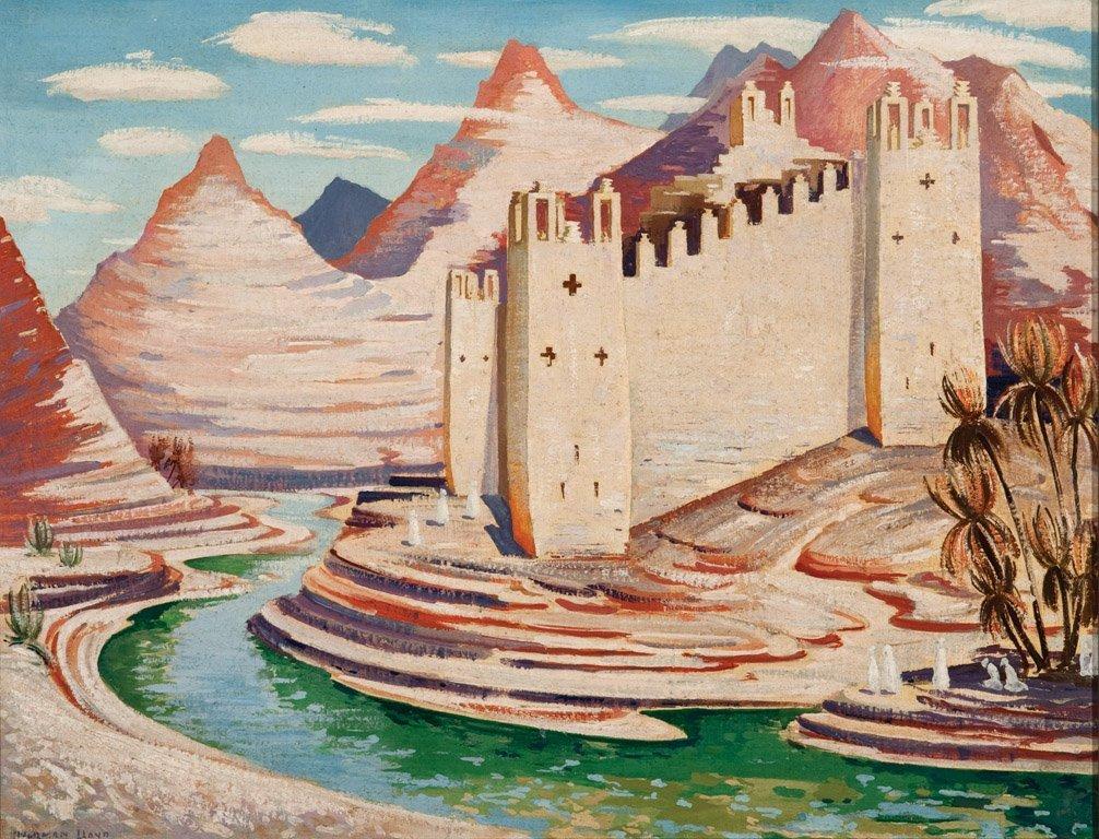 20: NORMAN LLOYD  (1894–1983)  Castle in the desert  oi
