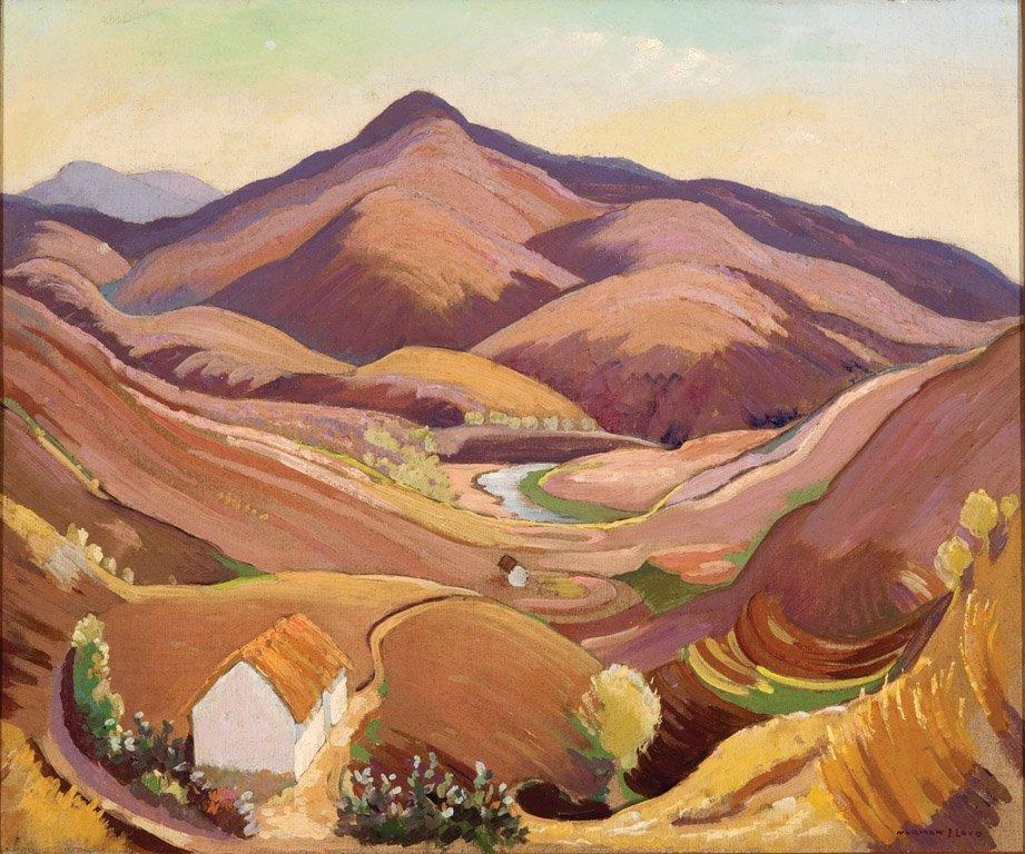 21: NORMAN LLOYD  (1894–1983)  Purple Mountain oil on c