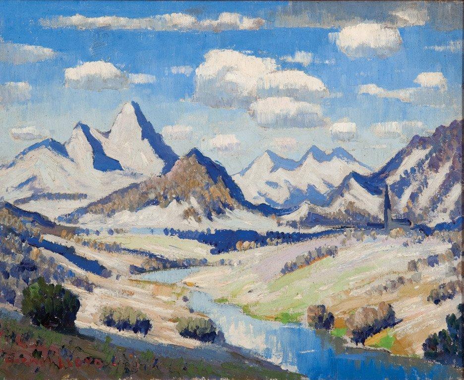 23: NORMAN LLOYD (1894–1983)  Mountain Landscape oil on