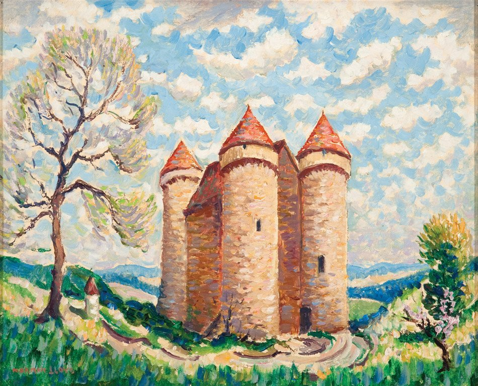 24: NORMAN LLOYD  (1894–1983)  Castle with three towers