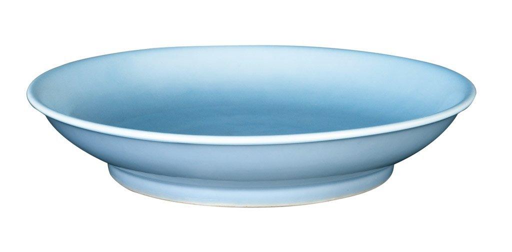 5: A Chinese lavender blue-glazed dish, Guangxu six cha