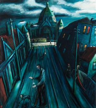 4: JAMES DAVIS (BORN 1940) Towards Nicholson St (Fitzro
