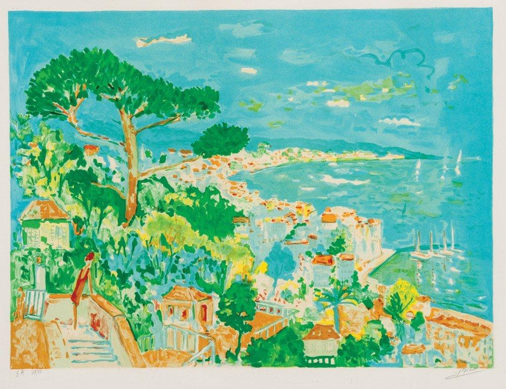 11: JEAN PICOT Untited – Anacapri, Italy lithograph