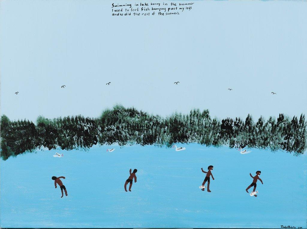 15: IAN W. ABDULLA (1947-2011) Swimming in Lake Bonny,
