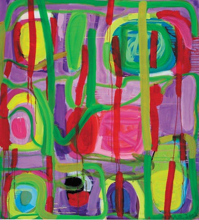 26: ANGELA BRENNAN  (BORN 1960) Parc Monceau, 2002 oil