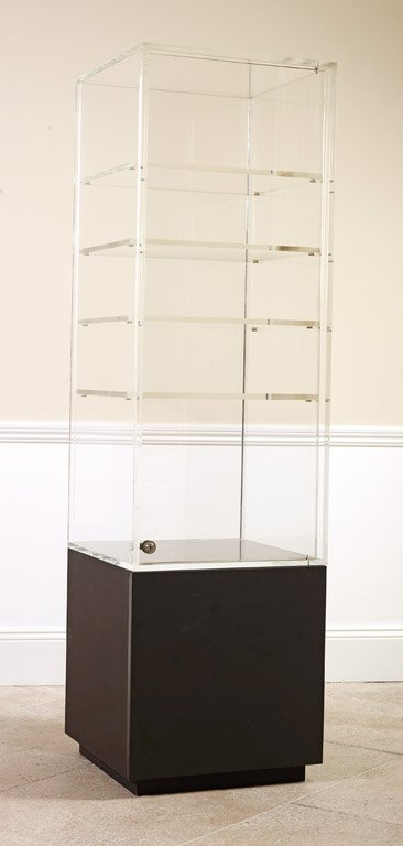 14: A contemporary perspex display cabinet on stand 187