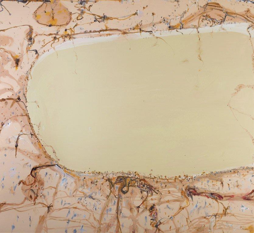 426: JOHN HENRY OLSEN  (BORN 1928) Lake Eyre Oil on can