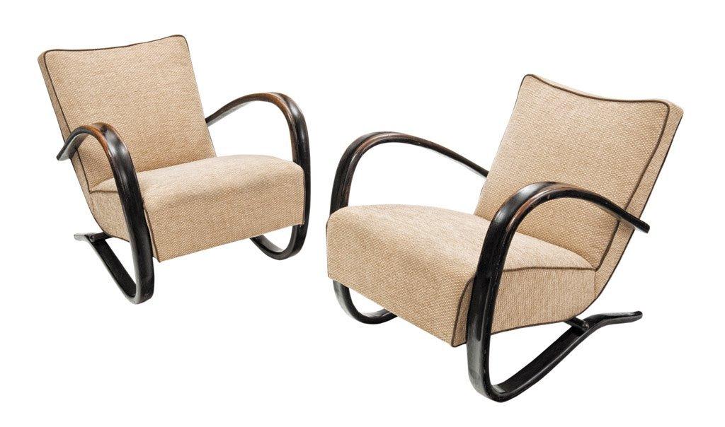 2: A good pair of Jindrich Halabala chairs, Czech, circ