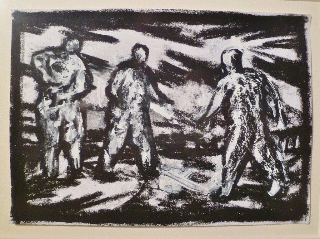 7: PETER BOOTH (BORN 1940) Three figures, 1992  black c