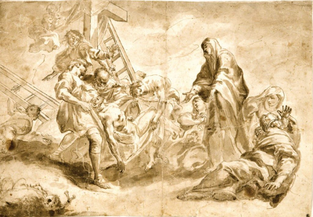 8: SCHOOL OF TINTORETTO Deposition Back: Study of a Roc