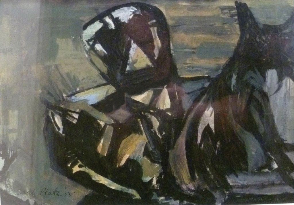 29: CARL OLAF PLATE  (1909–1977) Horse and Rider, 1955